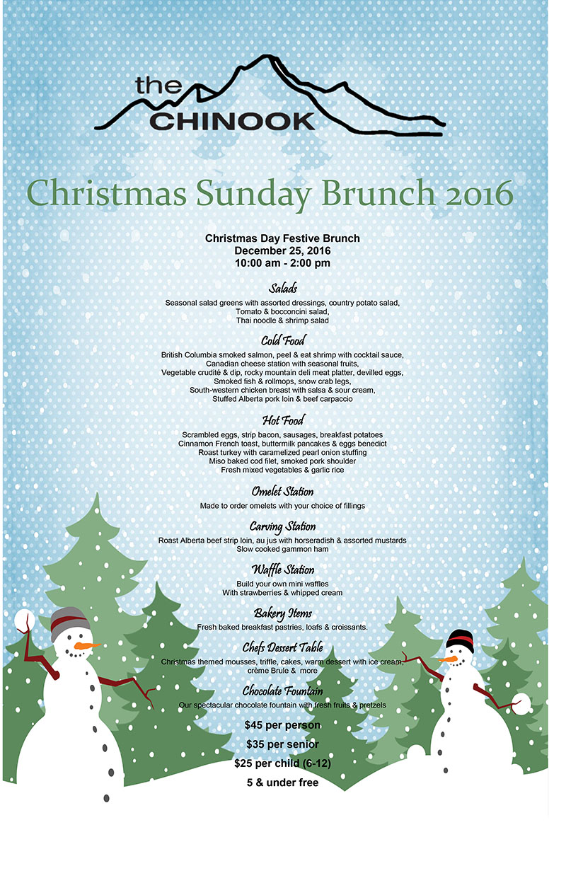 Taxi mike 39 s guide to christmas in banff canada for Table 6 brunch menu